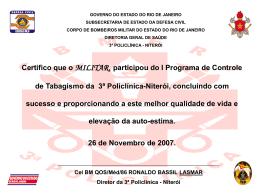 certificado PCT modelo - 3ª Policlínica do CBMERJ
