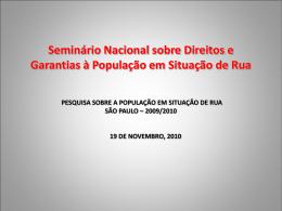 Seminário Nacional sobre Direitos e Garantias à
