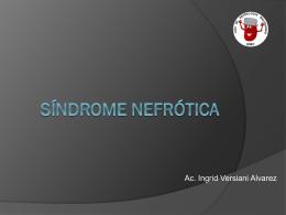 Sindrome Nefrótica - Liga de Nefrologia