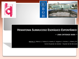 HEMATOMA SUBMUCOSO ESOFÁGICO ESPONTÂNEO