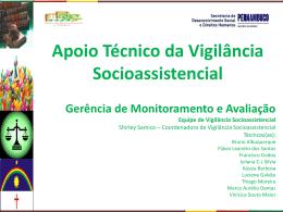 Apoio técnico em Vigilância Socioassistencial módulo 02