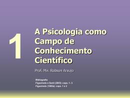A Psicologia como Campo de Conhecimento Científico