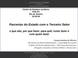 PARCERIAS DO ESTADO COM O TERCEIRO SETOR com quem
