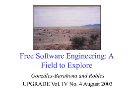 Free Software Engineering: A Field to Explore
