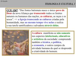 A cultura - Curso de Teologia