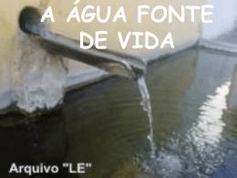 a água fonte de vida