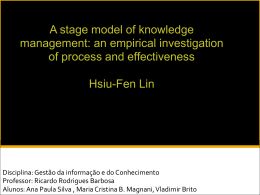 an empirical investigation of process and effectiveness Hsiu