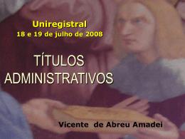 Títulos Administrativos