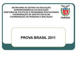 PROVA BRASIL 2011 - escola estadual moreira salles