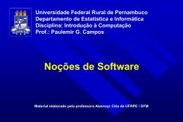 nocoes_software - Centro de Informática da UFPE