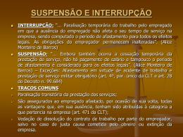 suspensão e interrupção