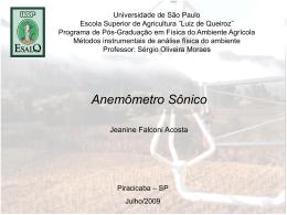 Anemômetro sônico - LEB/ESALQ/USP