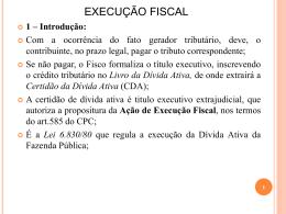 Procedimento da Execução Fiscal