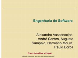 Fluxo de Análise e Projeto 1 - Centro de Informática da UFPE