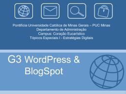 Apresentação Blogspot e WordPress