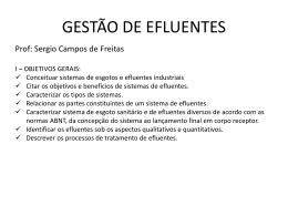 GESTÃO DE EFLUENTES