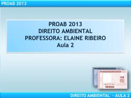 proab 2013 direito ambiental – aula 2