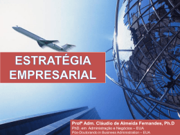 Estrátégia Empresarial - Concepção introdutoria