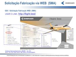 Solicitação Fabricação via WEB (SMA)