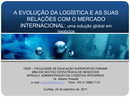 ApresentaçaoPÓSlogisticaintegrada2092011