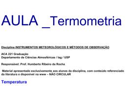 Aula_Temperatura_2015 - Departamento de Ciências