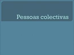 Pessoas colectivas - Faculdade de Direito da UNL