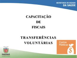 Apresentação - Capacitação dos Fiscais
