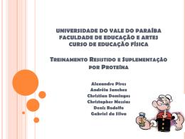 UNIVERSIDADE DO VALE DO PARAÍBA FACULDADE DE