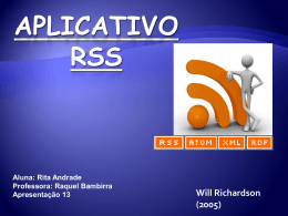 Applicativo RSS - ambientes
