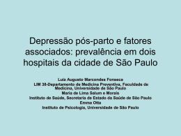 prevalência em dois hospitais da cidade de São Paulo