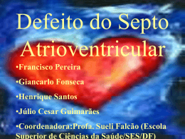 Defeito do Septo Atrioventricular (slide)