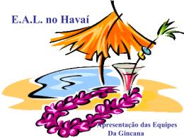 E.A.L. no Havaí - escolaanalaura
