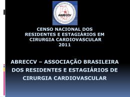 III Censo Nacional de Residentes e Estagiários em Cirurgia