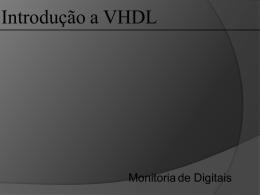 Introdução a VHDL