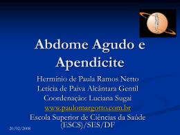Abdome Agudo e Apendicite