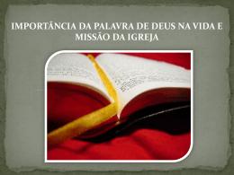 5) A Palavra de Deus e a Igreja
