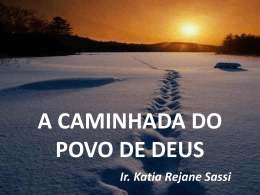 A CAMINHADA DO POVO DE DEUS Ir. Katia Rejane Sassi Os