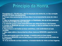 Principio da honra.