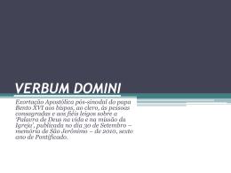 verbum-domini-final - Arquidiocese Pouso Alegre
