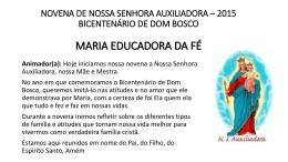 novena n.s. auxiliadora - 2015