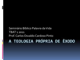A Teologia Própria de Gênesis