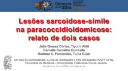 Lesões sarcoidose-símile na paracoccidioidomicose