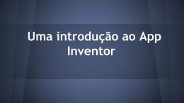 App Inventor presentation