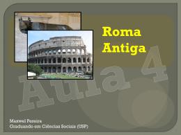 Aula 4 - Roma Antiga - Cursinho Comunitário Pimentas