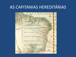 as capitanias hereditarias