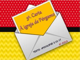 4a AULA - CARTA A IGREJA DE PERGAMO