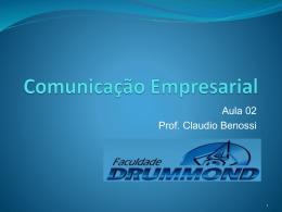 Linguagem verbal - Prof. Ms. Claudio Benossi