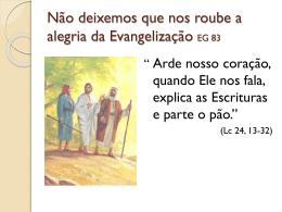 Encontro de Catequistas – Evangelii Gaudium + Missão na Bíblia