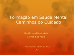 Formação em Saúde Mental – Caminhos do Cuidado – Região dos