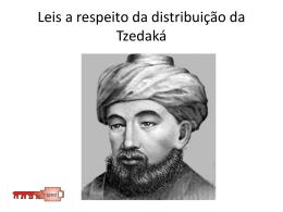 Leis a respeito da distribuição da Tzedaká